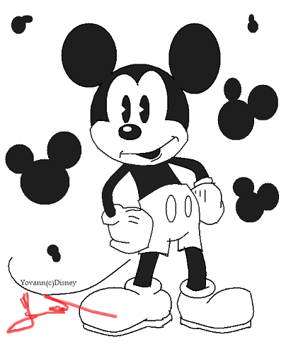 Comment dessiner mickey - Comment dessiner mickey ...