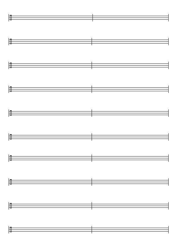 basse tablature vierge