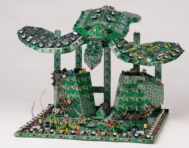 Computer Circuit Board Art