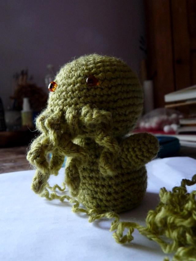 Cthulhu Crochet And Cousins Tiny Cthulhu Free Pattern