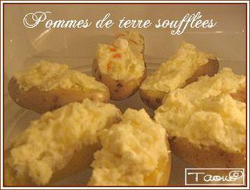 pommes de terre souffl es cuites au micro ondes les saveurs partagees de taous. Black Bedroom Furniture Sets. Home Design Ideas